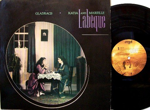 Labeque, Katia & Marielle - Vinyl LP Record - Gladrags - John McLaughlin Produced - Jazz