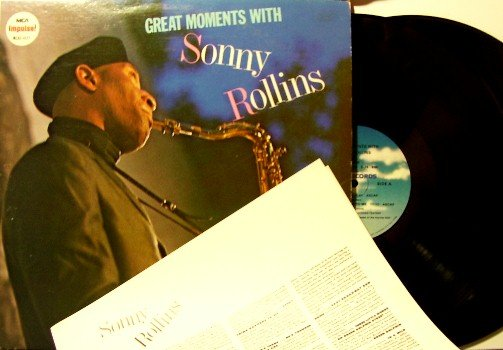 Rollins, Sonny - Great Moments With - 2 Vinyl LP Record Set - MCA Impulse - Jazz