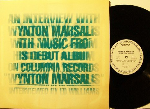 Marsalis, Wynton - Interview - Vinyl LP Record - White Label Promo - Promotional Only - 1981 Jazz