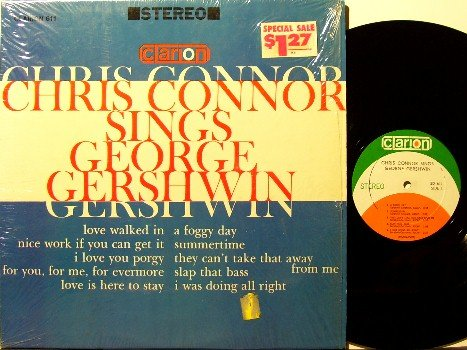 Connor, Chris - Sings George Gershwin - Vinyl LP Record - In Shrink Wrap - Jazz
