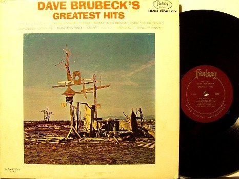 Brubeck, Dave - Greatest Hits - Vinyl LP Record - Original Mono Fantasy Jazz