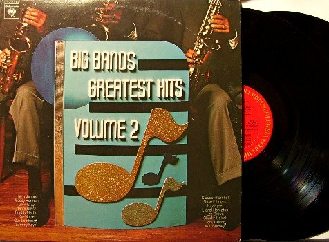 Big Bands Greatest Hits - 2 Vinyl LP Record Set - Promo - Columbia Jazz