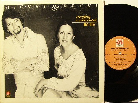 Mickey & Becki - Everything Is Under Control - Vinyl LP Record - Private Label - Xian Folk Rock