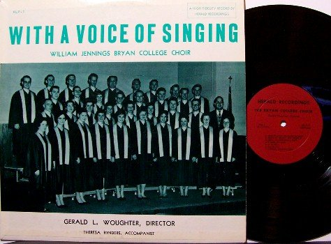 Bryan College Choir - With A Voice Of Singing - Vinyl LP Record - A Cappella Christian