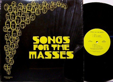 Songs For The Masses - Vinyl LP Record - Private Label Hippie Xian band from Baltimore - Christian