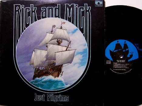Rick & Mick - Just Pilgrims - Vinyl LP Record - Christian Folk Gospel