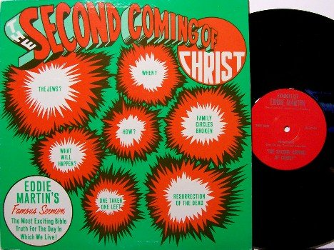 Martin, Eddie - The Second Coming Of Christ - Vinyl LP Record - Spoken Word CHristian Gospel