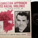 Evans, Louis - A Christian Approach To Racial Violence - Vinyl LP Record - Spoken Word