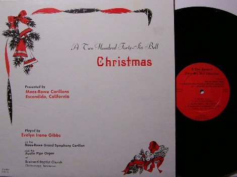 A 246 Bell Christmas - Vinyl LP Record - Unusual Bell Sounding Organ