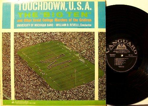University Of Michigan - Touchdown, U.S.A. - Vinyl LP Record - UM Wolverines Football Sports