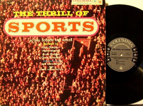 Thrill Of Sports - Vinyl LP Record - Various Clips Of Historical Sports Events