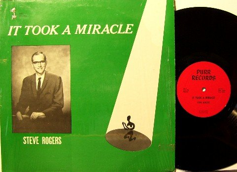 Rogers, Steve - It Took A Miracle - Vinyl LP Record - Christian - South Carolina Football Sports
