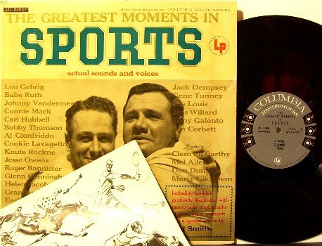 Greatest Moments In Sports - Vinyl LP Record + beautiful 20 page book