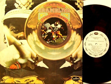 Grambling College - Tiger Time - Vinyl LP Record - White Label Promo - Tigers Football Sports
