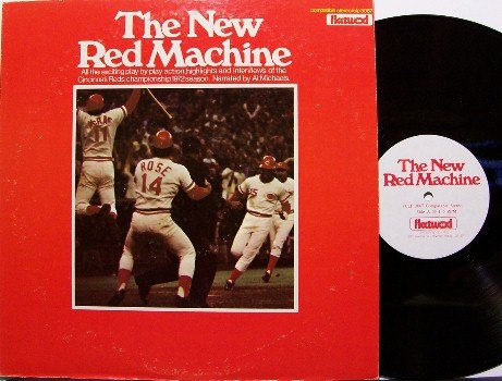 Cincinnati Reds - The New Red Machine 1972 - Vinyl LP Record - MLB Baseball Sports