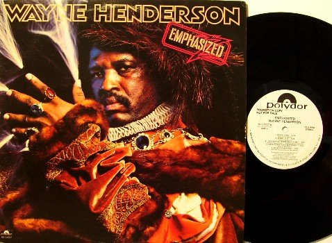 Henderson, Wayne - Emphasized - Vinyl LP Record - White Label Promo - Late era Funk
