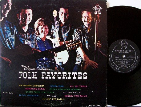 Wagonmasters, The - Folk Favorites - Signed Vinyl LP Record - Autographed by all 5