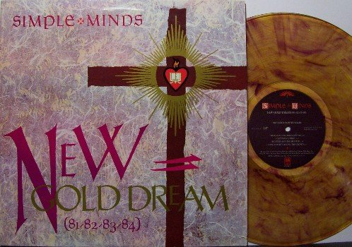 Simple Minds - New Gold Dream - Vinyl LP Record - Swirl Colored Vinyl - Rock