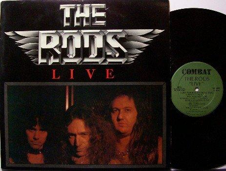 Rods, The - Live - Vinyl LP Record - 1983 Combat Label - Rock