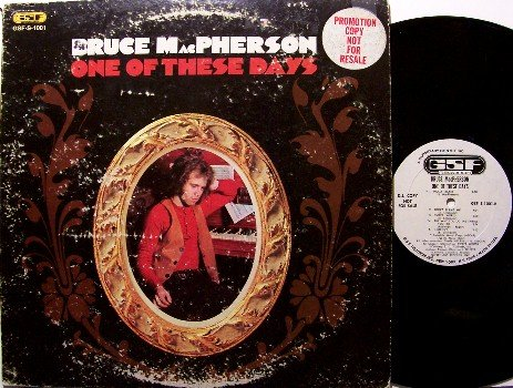 MacPherson, Bruce - One Of These Days - Vinyl LP Record - White Label Promo - Jonathan Edwards