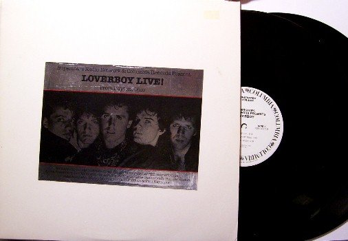 Loverboy - Live In Dayton Ohio - 2 Vinyl LP Record Set - White Label Promo Only Radio Show - Rock