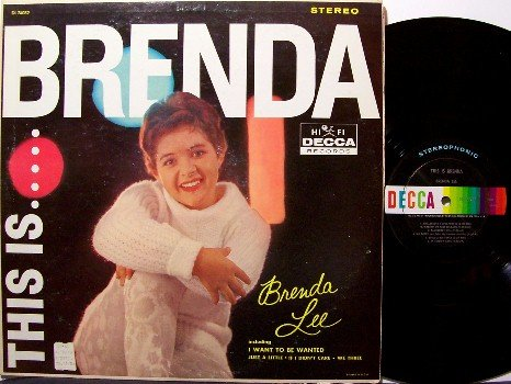 Lee, Brenda - This Is Brenda Lee - Vinyl LP Record - Decca Label - Rock