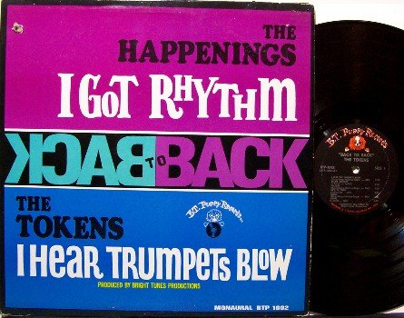 Happenings, The & The Tokens - Back To Back - Vinyl LP Record - Mono - Rock