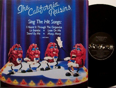 California Raisins, The - Vinyl LP Record - with Poster - R&B Soul