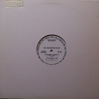 "Boomtown Rats - I Don't Like Mondays (Live) + 2 - Promo - Vinyl 12"" Single Record - Rock"