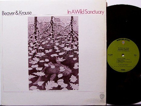 Beaver & Krause - In A Wild Sanctuary - Vinyl LP Record - MC Escher Art - Synth Rock