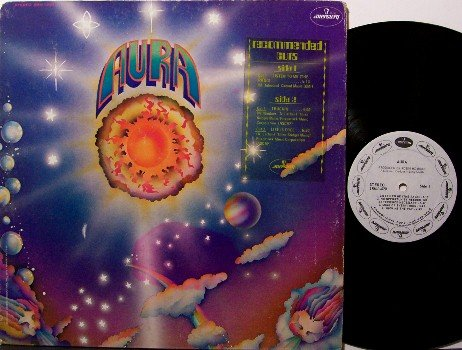 Aura - Self Titled - Vinyl LP Record - White Label Promo - Rock