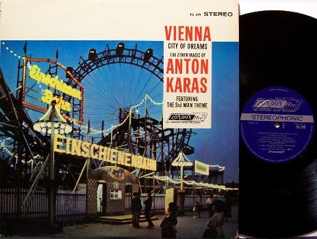 Vienna City Of Dreams - Vinyl LP Record - Ferris Wheel cover - Anton Karas - Zither - France World