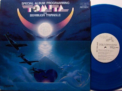 Tomita - The Bermuda Triangle - Promo Radio Vinyl LP Record - Blue Colored Vinyl - New Age