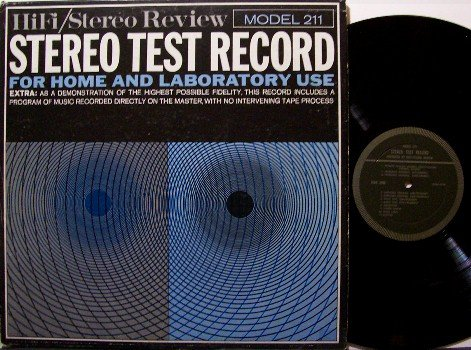 Stereo Test Record - HiFi / Stereo Review Model 211 - Vinyl LP - Odd Unusual