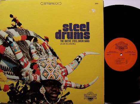 Steel Drums - The Native Steel Drum Band - Vinyl LP Record - World