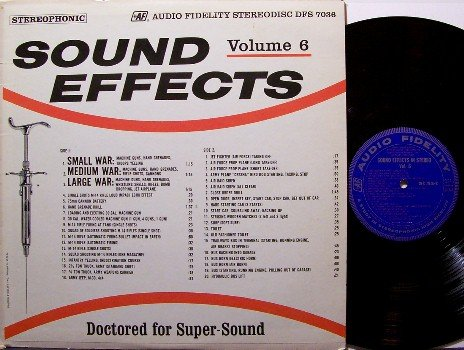 Sound Effects - Vinyl LP Record - Audio Fidelity Volume 6 - War / Transportation - Odd Unusual