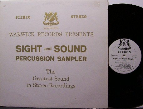 Sight & Sound Percussion Sampler - Vinyl LP Record - Early Stereo Demo Album - Odd Unusual