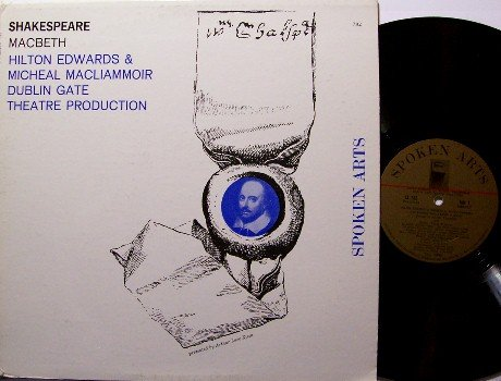 Shakespeare - Macbeth - Vinyl LP Record - Spoken Word Play - Odd Unusual