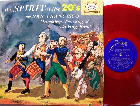 San Francisco Marching Band - Spirit of the 20's - LP Record - Fantasy Label - Red Colored Vinyl