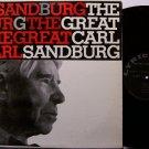 Sandburg, Carl - The Great - Vinyl LP Record - Folk Poetry - Poet Odd Unusual