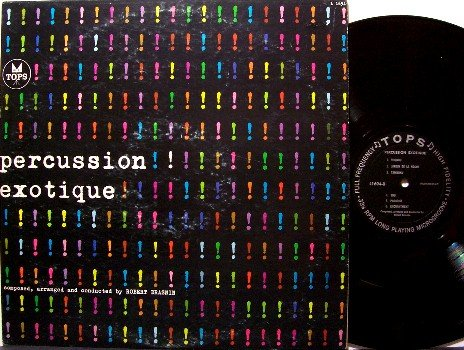 Percussion Exotique- Vinyl LP Record - Robert Drasnin - Cheesecake Odd Unusual