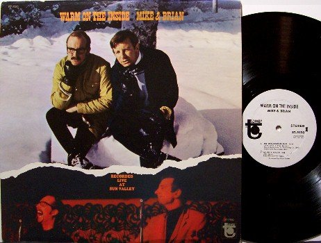 Mike & Brian - Warm On The Inside - White Label Promo - Vinyl LP Record - Tower Label - Comedy