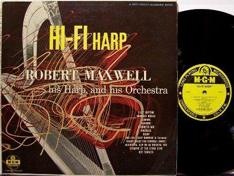 Maxwell, Robert - Hi Fi Harp - Vinyl LP Record - Beautiful Abstract Cover Art - Odd Unusual