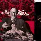 Leonard, Fat Jack E. - How To Lose Weight - Vinyl LP Record - Comedy Odd Unusual