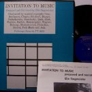 Invitation To Music - Vinyl LP Record - Instructional + Booklet - Folkways - Odd Unusual