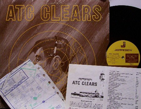 A T C Clears - Vinyl LP Record / Inserts - Aviation Airplane Pilot Instruction Album - Odd Unusual