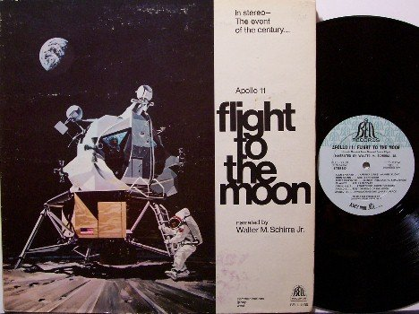 Apollo 11 Flight To The Moon - Vinyl LP Record - Space Exploration - Odd Unusual