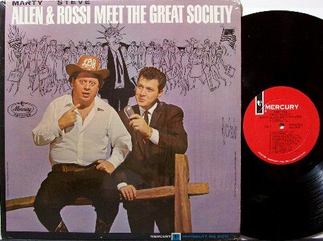 Allen, Marty & Steve Rossi - Meet The Great Society - Vinyl LP Record - Political Comedy Odd Unusual