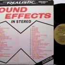 Sound Effects - Radio Shack / Realistic Pressing - Vinyl LP Record - Odd Unusual