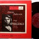 "Anderson, Marian - Sings Spirituals - 10"" Vinyl LP Record - Spiritual Gospel"